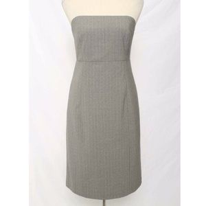 GAP grey pinstripe dress